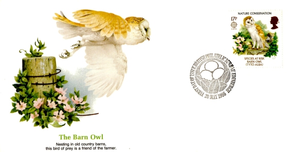 Great Britain Barn Owl 1986 FDC stamp