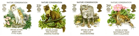 Nature Conservation 1986 Great Britain stamp set
